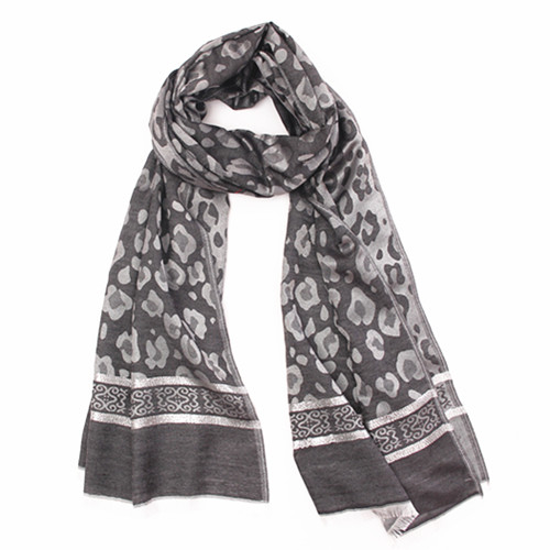 Ash Gray and Spots Scarf